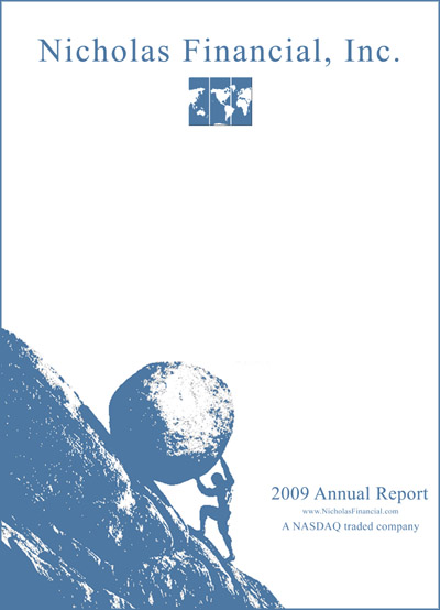 Nicholas Financial 2009 Annual Report